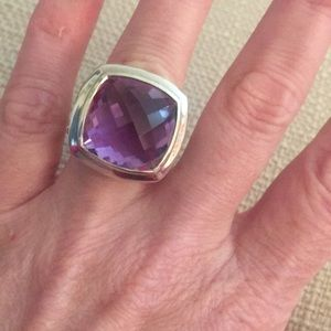 David Yurman 17mm Amethyst Albion Ring